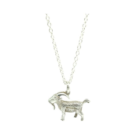 Vintage 1972 Sterling Silver Ram Charm Necklace