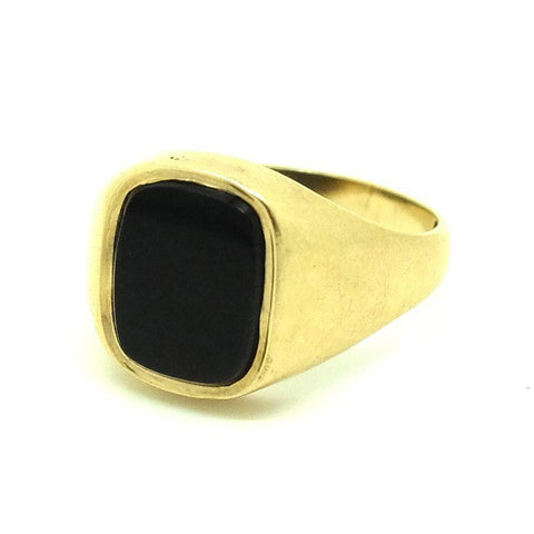 Handmade Twisted 9ct Yellow Gold Ball Pinky Ring