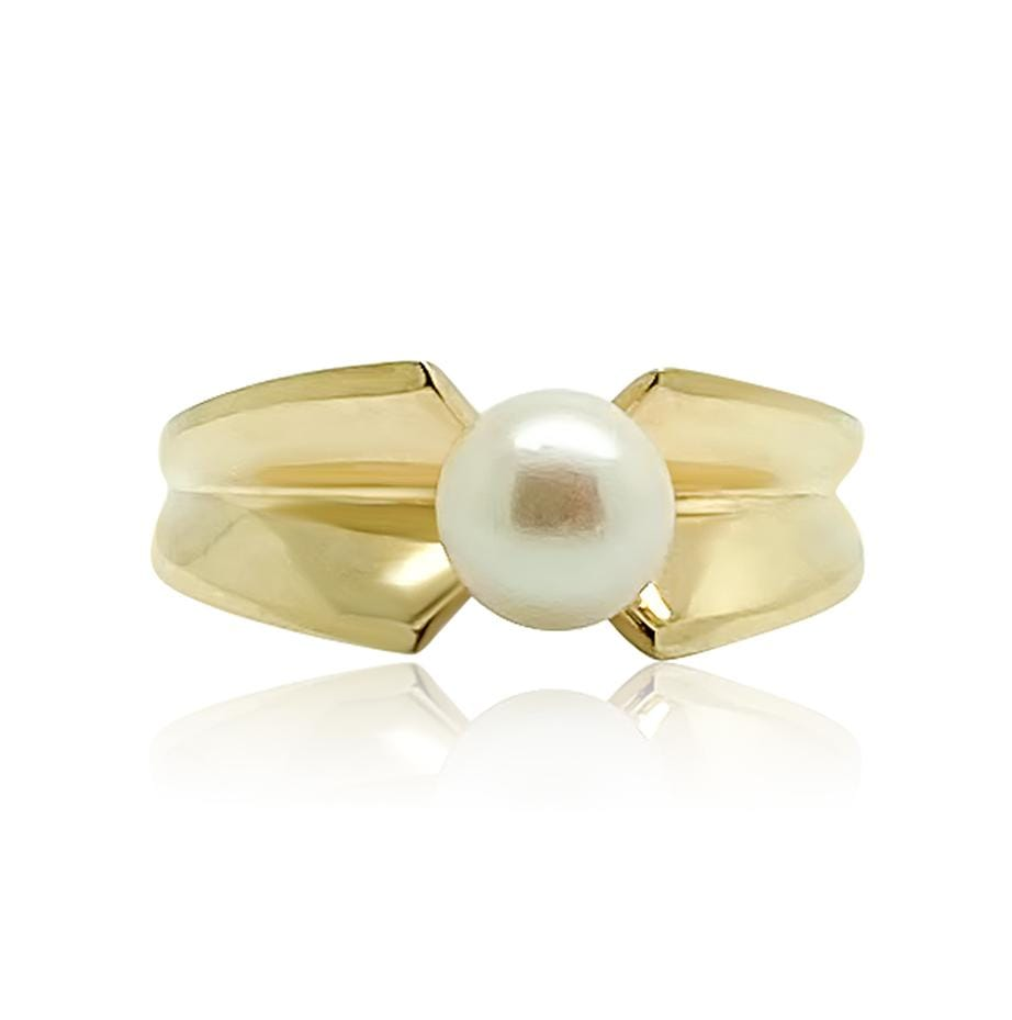 1970s Ring Vintage 1970s Pearl 9ct Gold Ring