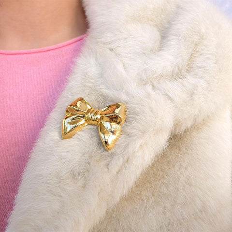 Vintage Gres Parfums Bow Brooch