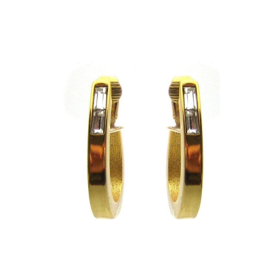 Vintage 1980's Givenchy Designer Hoop Earrings