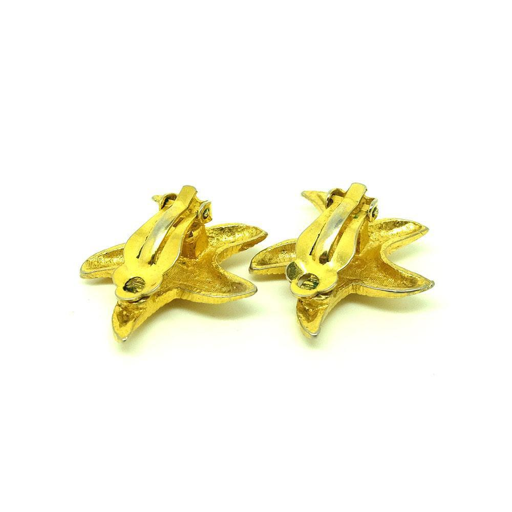 Vintage 1980s Starfish Clip on Earrings