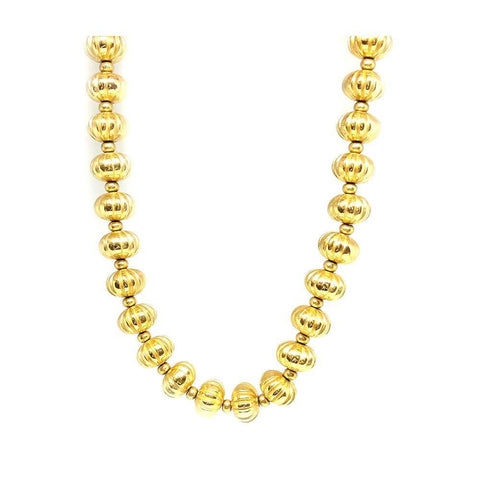 Vintage 1980s Rhinestone Gold Tone Necklace