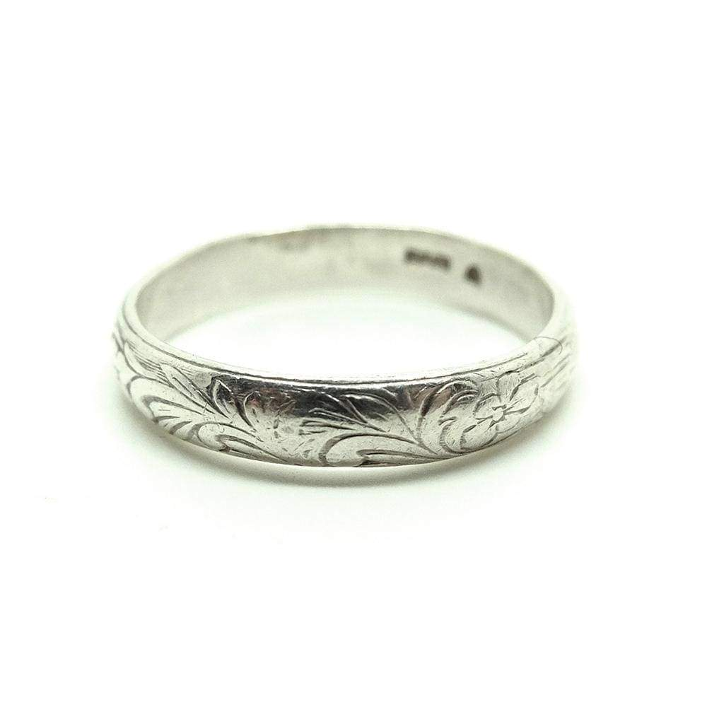 1980s Ring Vintage 1980s Ornate Floral Sterling Silver Ring