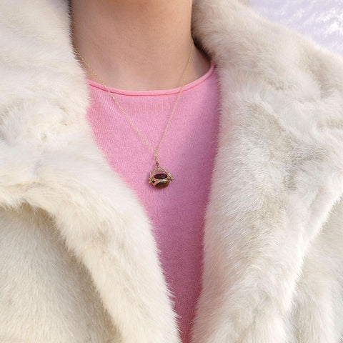 Vintage 1994 Tigers Eye 9ct Gold Necklace