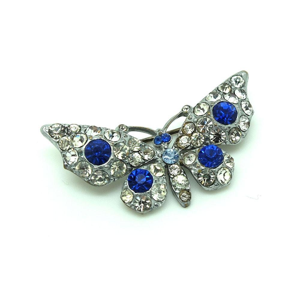 Vintage 1930s Paste Butterfly Brooch