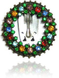 Vintage Art Deco 1930s Diamante Multicoloured Dress Clip Brooch