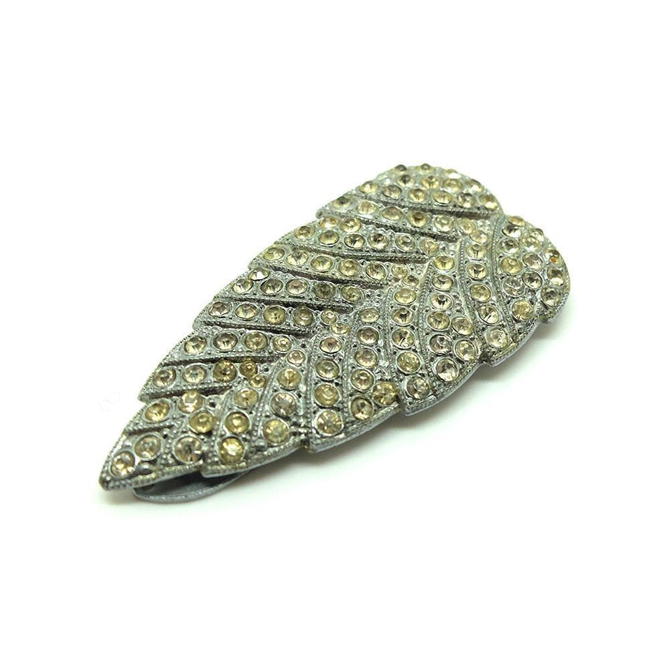 Vintage Art Deco 1930s Leaf Dress Clip Brooch