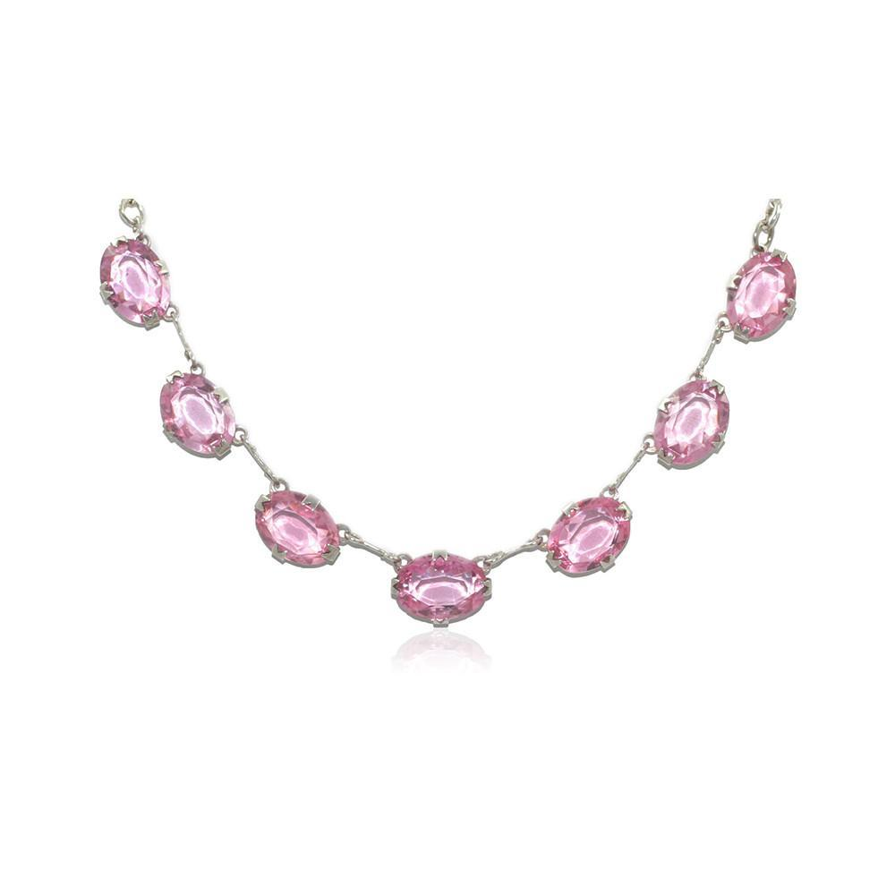 Vintage 1930s Riviere Pink Necklace