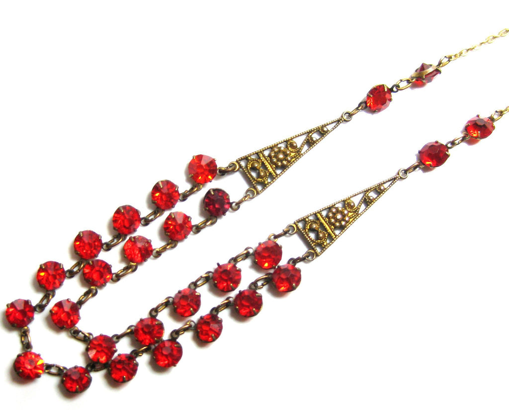Vintage 1930s Ruby Red Necklace