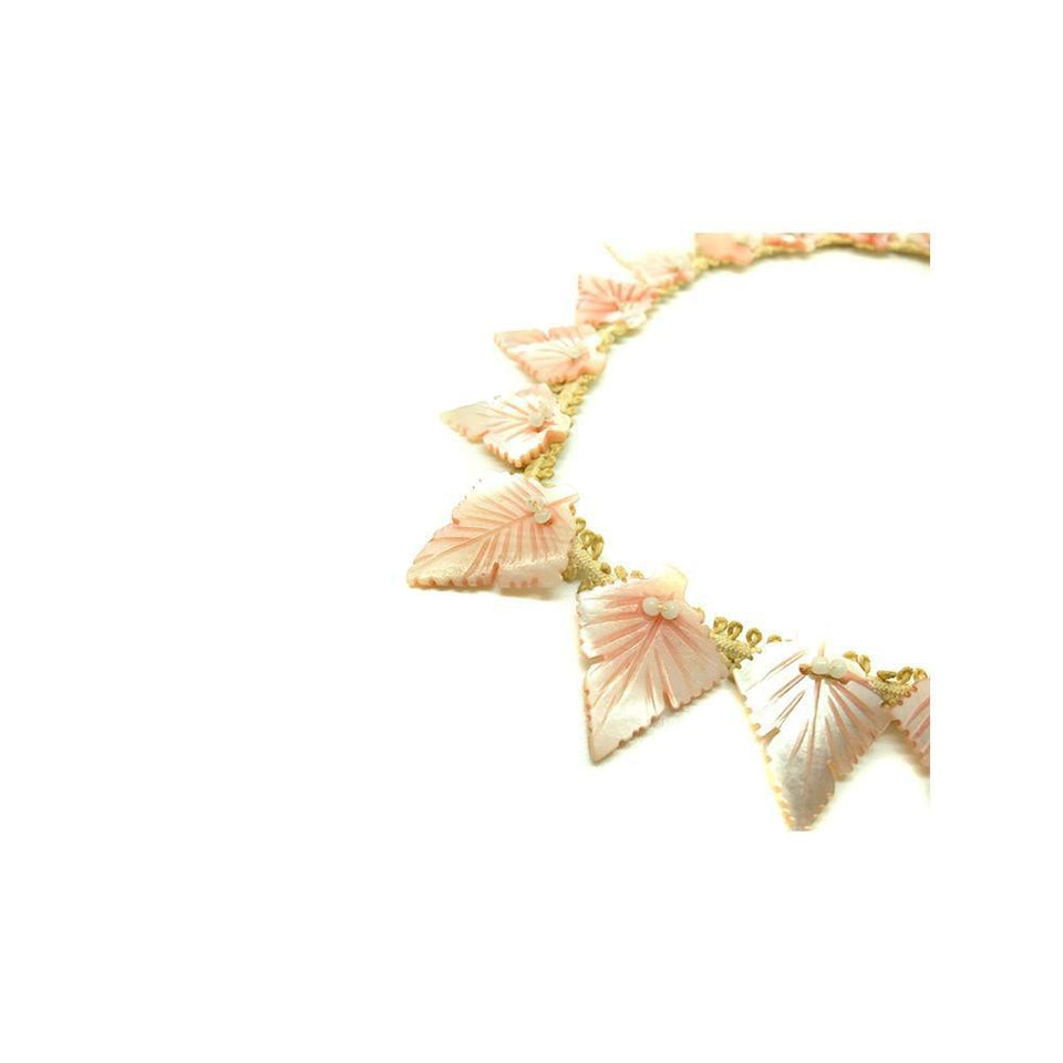 Vintage Art Deco 1930's Pastel Pink Mother of Pearl Necklace