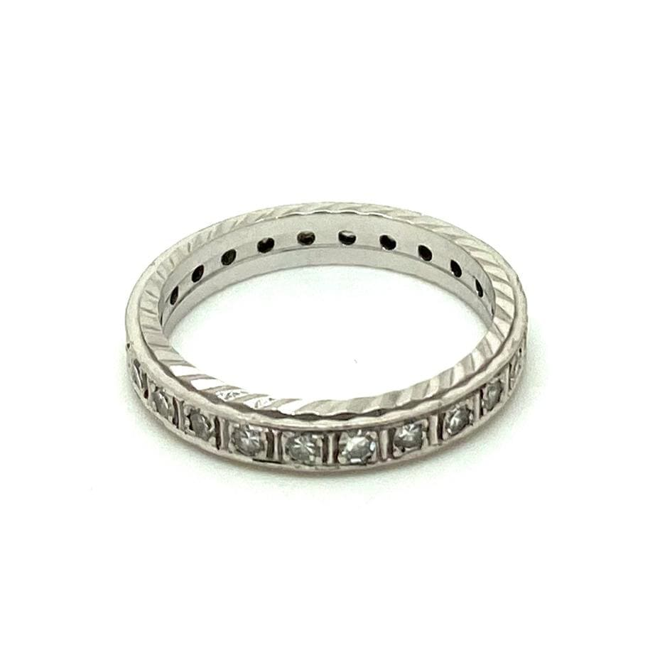 ART DECO Ring Art Deco Platinum Diamond Set Eternity Infinity Ring