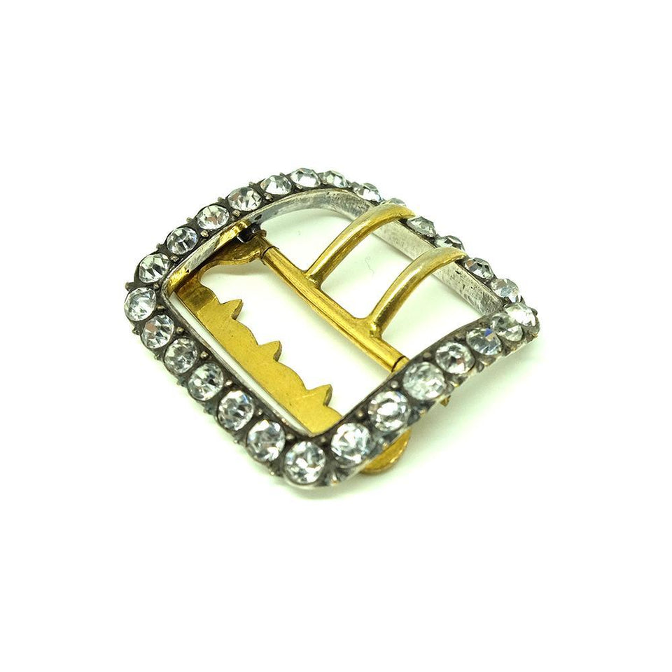 Antique Edwardian Silver Paste Square Buckle