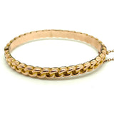 EDWARDIAN Bracelet Antique Edwardian 1904 9ct Rose Gold Rope Bangle