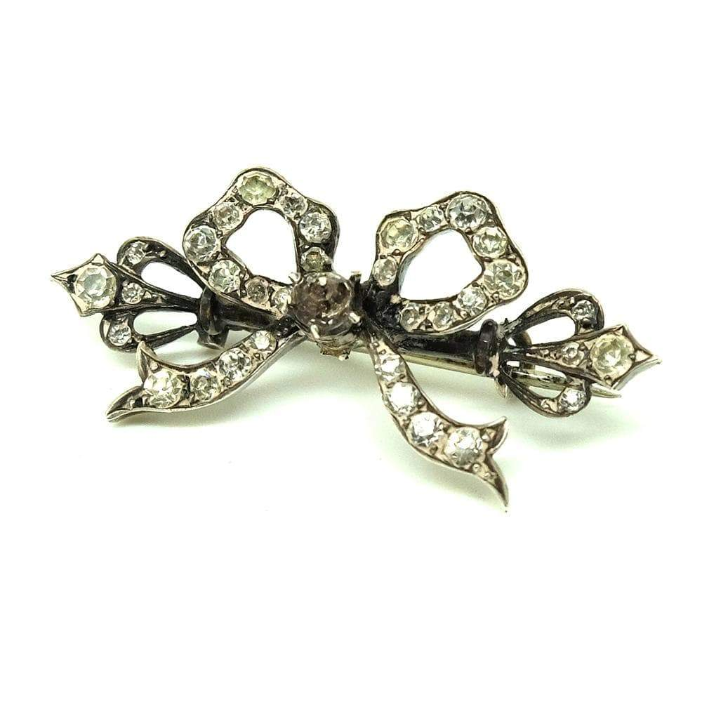 EDWARDIAN Brooch Antique Edwardian Silver Bow Brooch