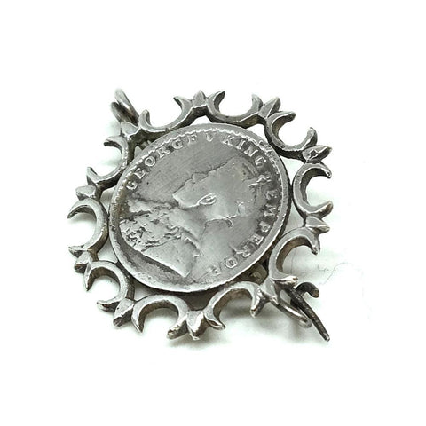 Antique Victorian 1892 Mizpah Sterling Silver Brooch