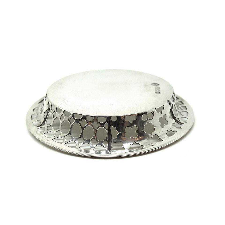 Antique Edwardian 1907 Silver Jewellery Tray