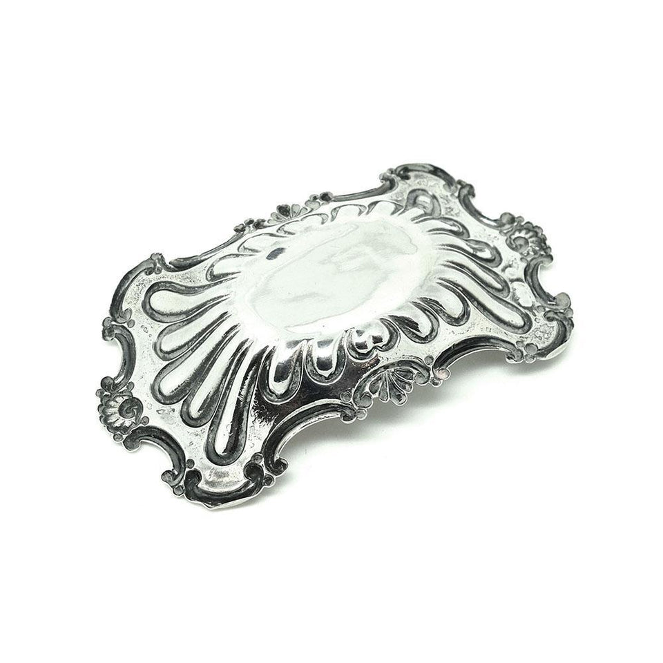 Antique Edwardian Sterling Silver Jewellery Tray