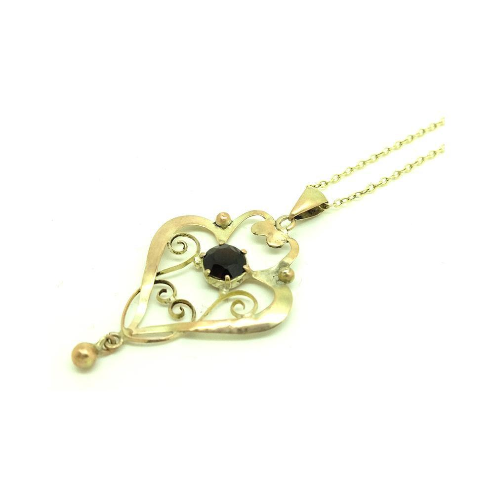 Antique Edwardian 9ct Gold Lavalier Necklace