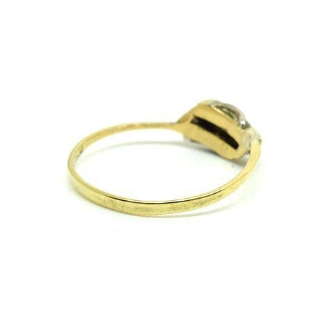 Antique Edwardian 18ct Gold & Platinum Diamond Ring