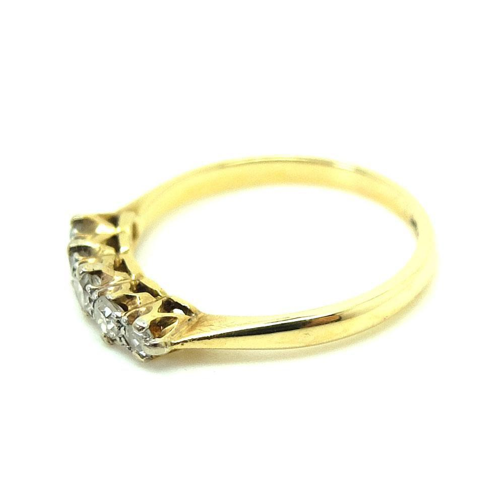 Antique Edwardian 1910 18ct Gold Diamond Ring