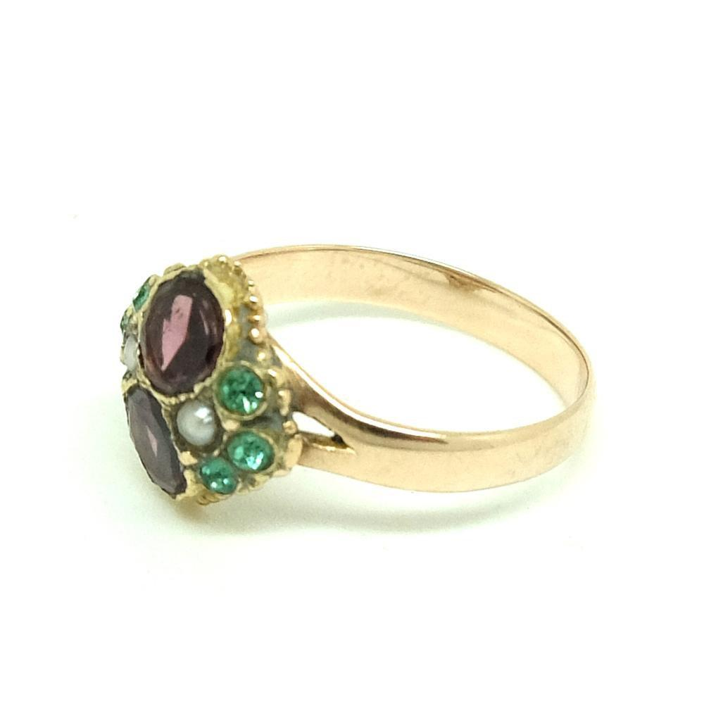 Antique Edwardian Pink Tourmaline 9ct Rose Gold Ring