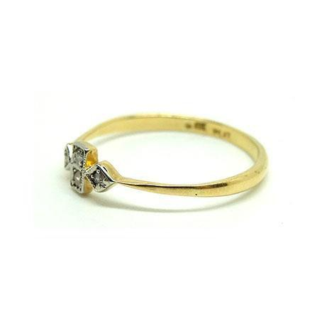 Reserved - Antique Edwardian 18ct Gold & Platinum Diamond Ring