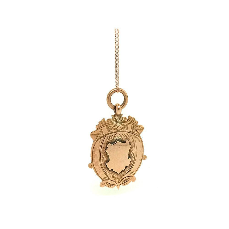 Antique Georgian (1822-1823 ) 9ct Rose Gold Crest Necklace
