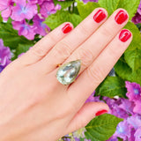 Mayveda Jewellery Ring The Mayveda Prasiolite 9ct Yellow Gold Ring