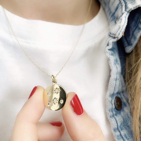 mayvedajewellery Penny Star Necklace