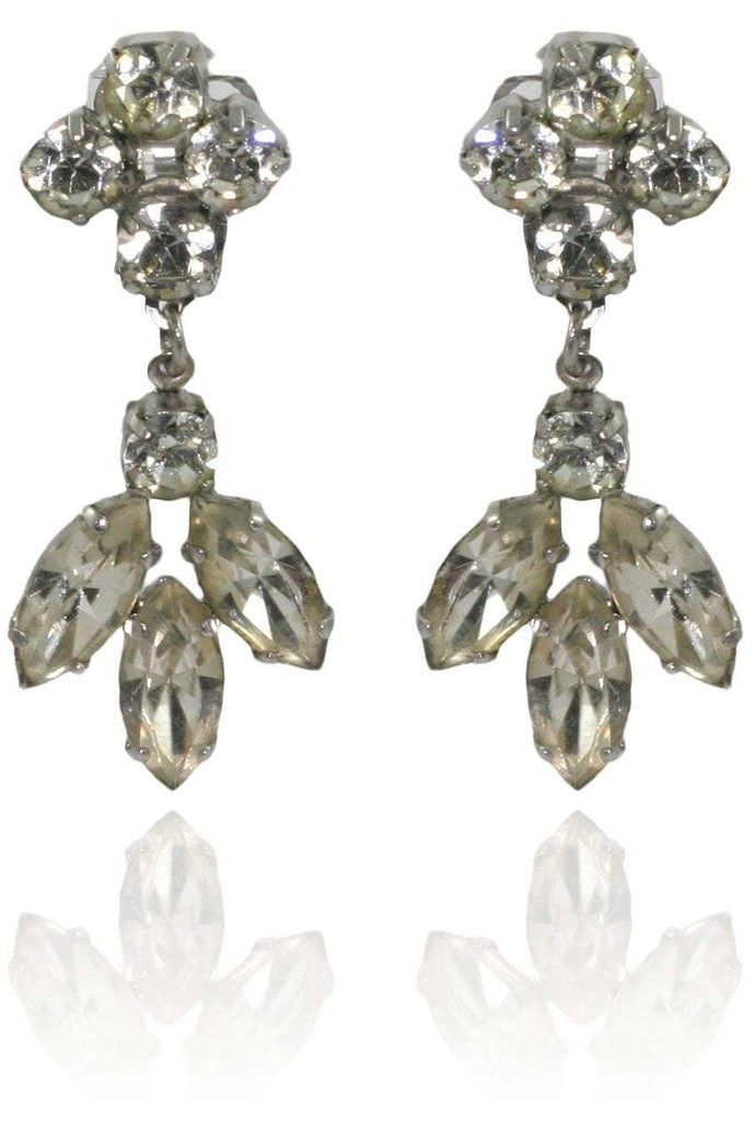 Vintage Diamante Drop Earrings