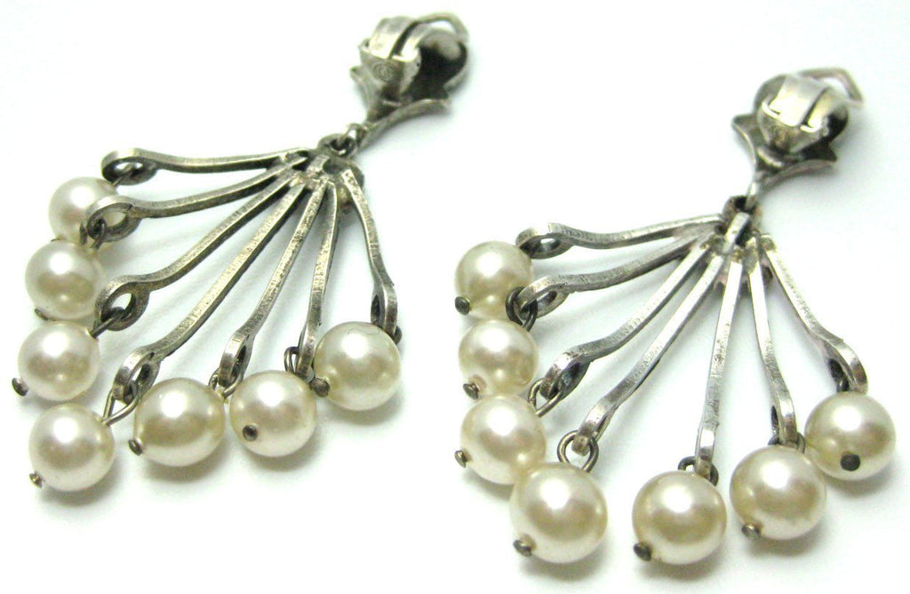 Vintage Italian Faux Pearl Earrings