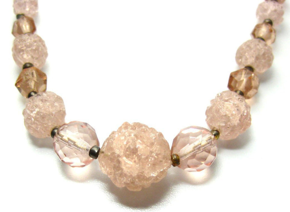 Vintage Pink Bead Necklace