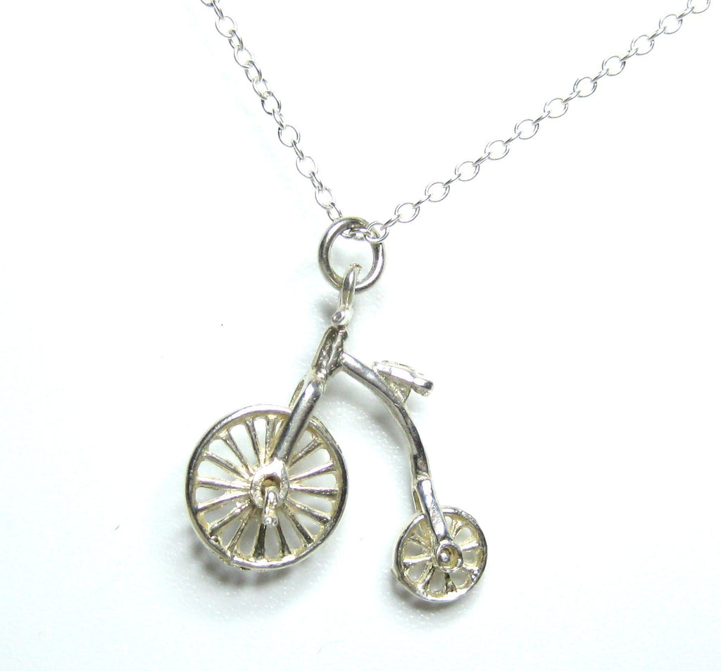 Vintage Silver Bicycle Charm