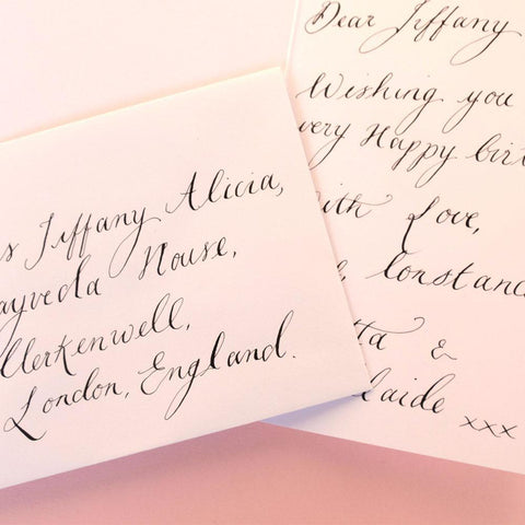 Modern Calligraphy Hand Written Greetings Card