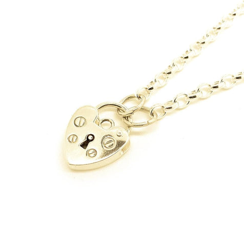 NEW Necklace Belcher Chain Heart Lock Necklace