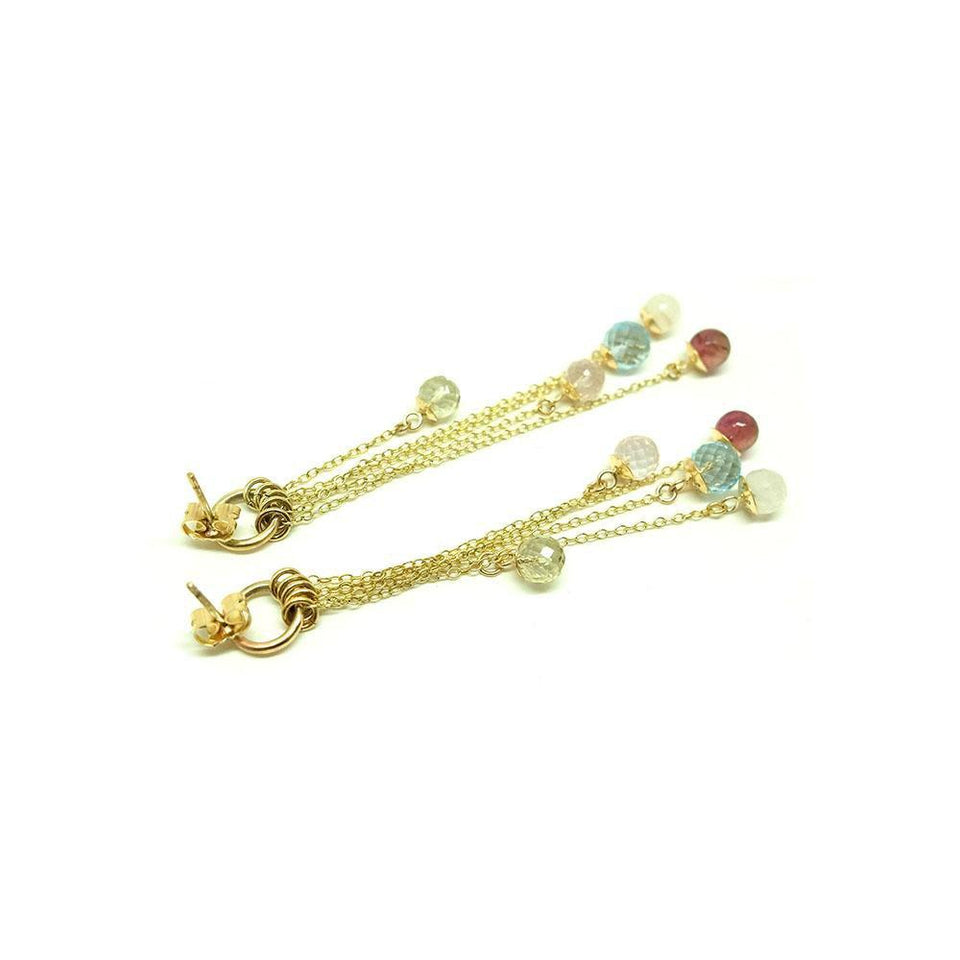 Bobbie Earrings | Handmade 9ct Yellow Gold Gemstone Earrings