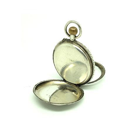 Antique Victorian Sterling Silver Pocket Watch