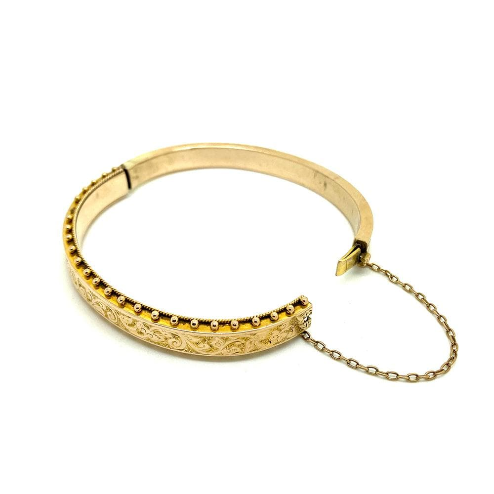 VICTORIAN Bracelet Antique Victorian 9ct Yellow Gold Rope Bangle