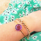 VICTORIAN Bracelet Antique Victorian Amethyst 9ct Rose Gold Bangle Bracelet