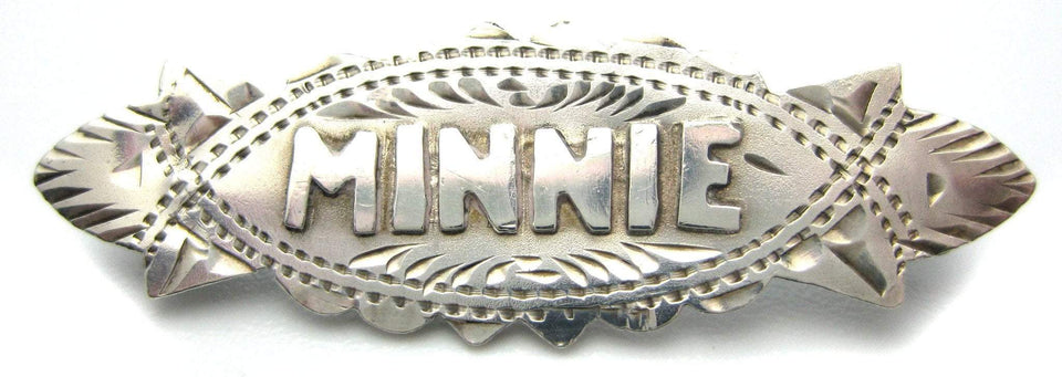 Antique Victorian 1880s 'Minnie' Brooch