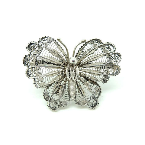 Vintage 1930's Basket of Flowers Brooch