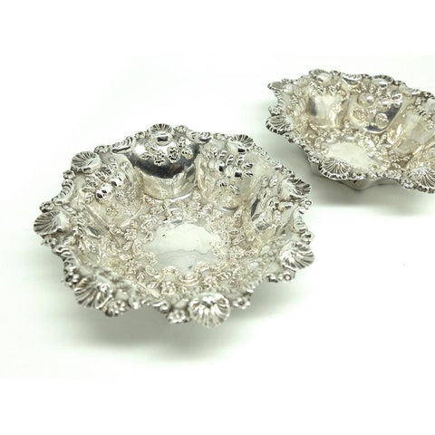Antique Edwardian 1902 Sterling Silver Jewellery Trays
