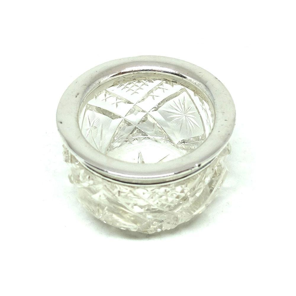 Antique Victorian 1883 Sterling Silver Jewellery Pot