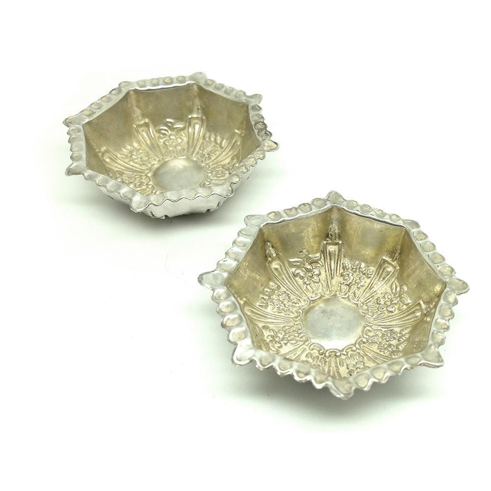 Antique Victorian 1900 Sterling Silver Jewellery Trays