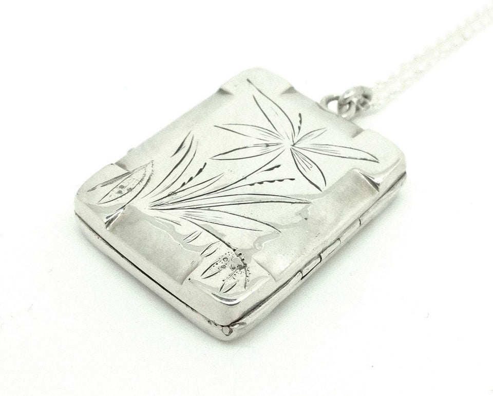 Antique Victorian (1827-1901) Heron Sterling Silver Locket