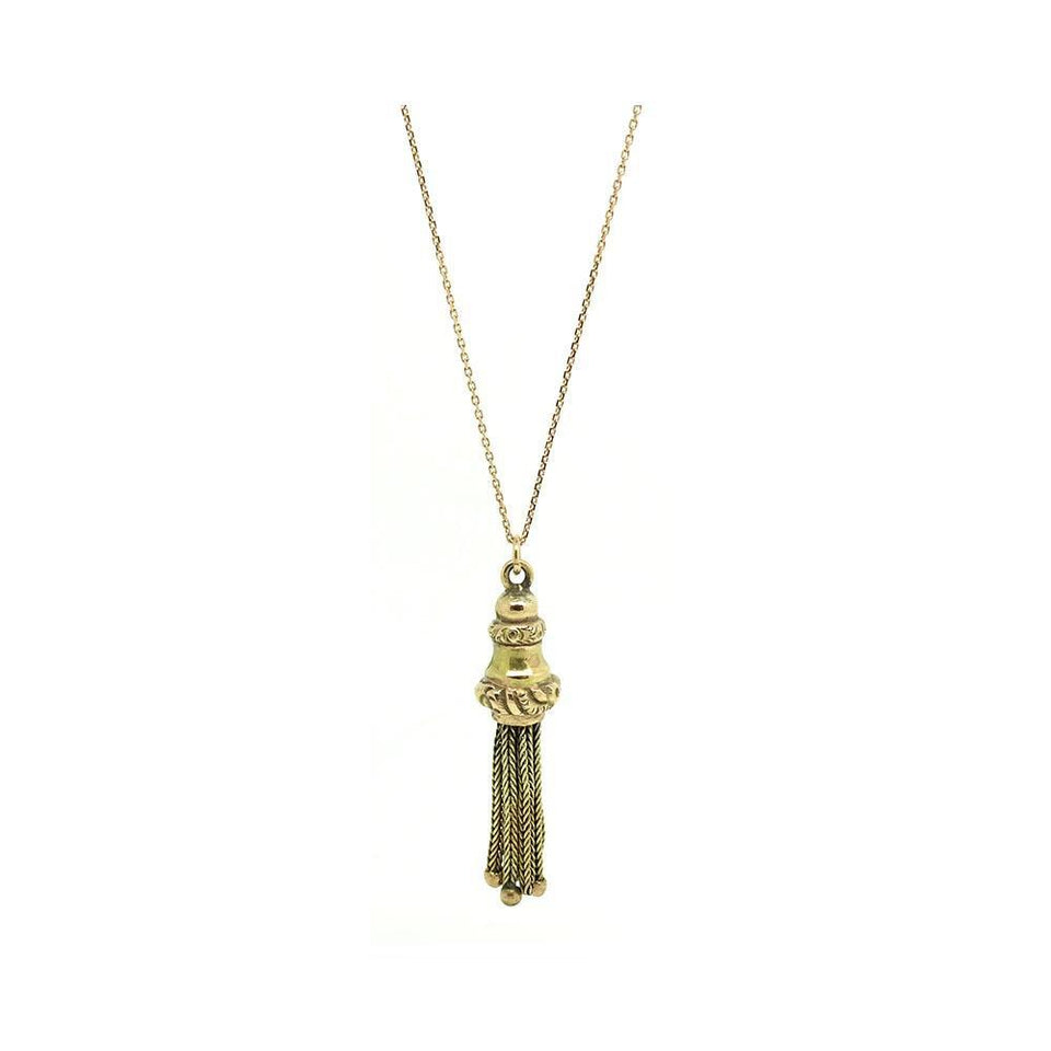 Antique Victorian 9ct Gold Tassel Necklace
