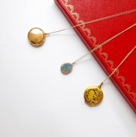 Antique Victorian 9ct Gold Turquoise Enamel Locket