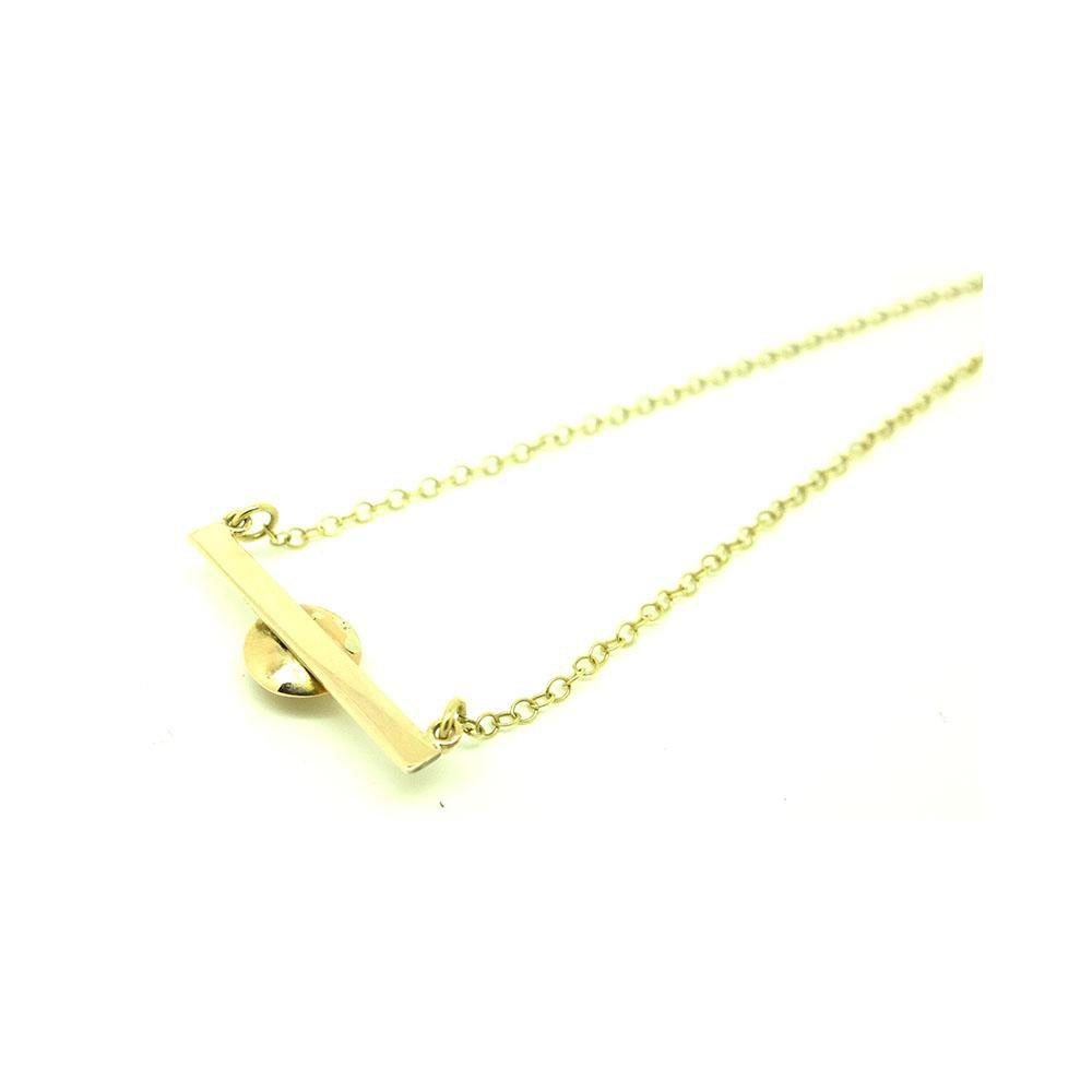 Antique Victorian Diamond Bar 9ct Gold Necklace