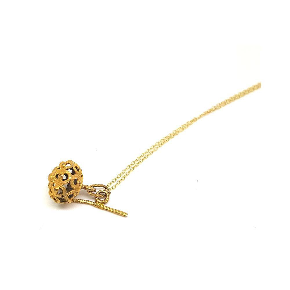 Antique Victorian Gilt Birdcage Necklace